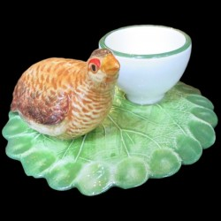 Brown partridge egg cup