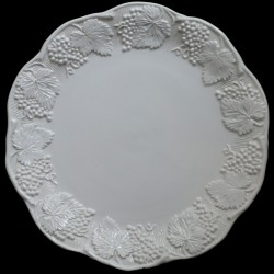 "Assiette de table blanc cassé uni ""George Sand"""