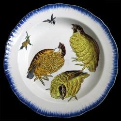 Bracquemond poussins assiette creuse