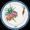 """Assiette en tôle """"Bracquemond"""" Fleur Couronne Impériale"""