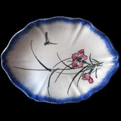 Bracquemond ravier bleuet