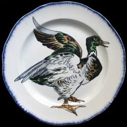 Bracquemond plat rond canard diamètre 30 cm