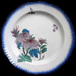 Bracquemond Chrysanthème et petit Papillon assiette