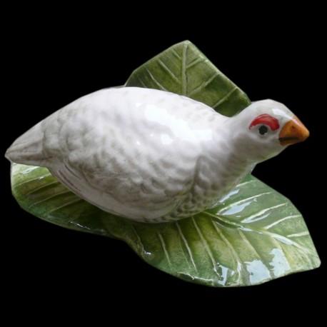 White partridge menu holder