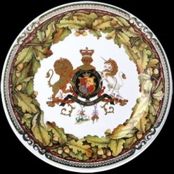 Assiette en tole sérigraphiee Royal Oak