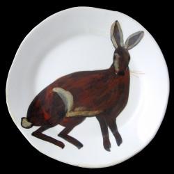Lièvre Assiette de table D 28 cm