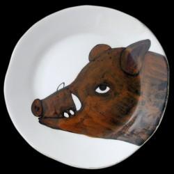 Wild boar dinner plate D 28 cm