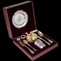 PUIFORCAT, christening set solid silver