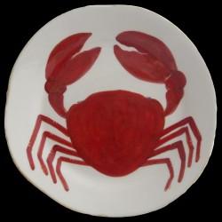 Assiette creuse Crabe D 23cm
