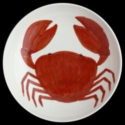 Crabe Grand plat rond creux 38 cm