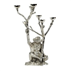 Chandelier singe en nickel H 40 cm