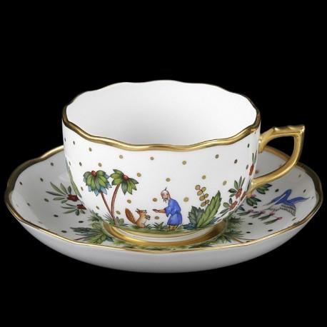 Tasse et sous-tasse à thé
