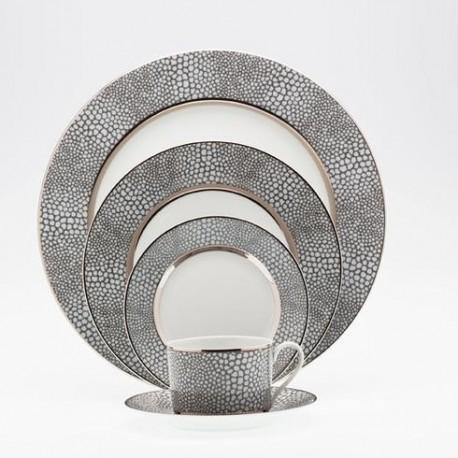 Bol à bouillon et sous tasse 30 cl Royal Limoges collection Makassar