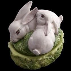 Soupière petit modèle chou et lapins