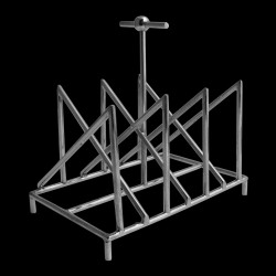 Porta tostadas triángulos cruzados Baño de plata
