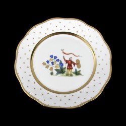 Classical plate of 26cm diameter/ character 5
