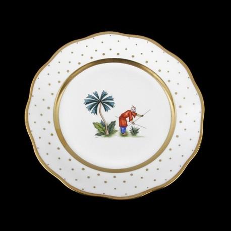 Classical plate of 26cm diameter/ character 6