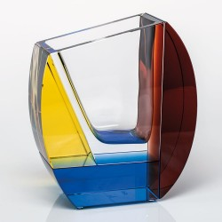 Vase en cristal Mondrian