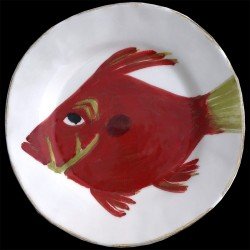 John dory fish salad plate D 23 cm
