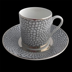 Tasse à café et sous tasse 10 cl Royal Limoges collection Makassar