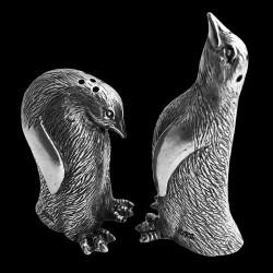 Sel & Poivre Pingouin en étain