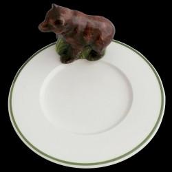 Ours sur petite assiette D16,6 cm