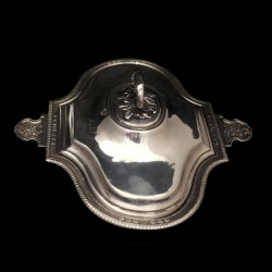 Royal Deauville vegetable dish with lid Napoléon III silverplated XIXth century large size