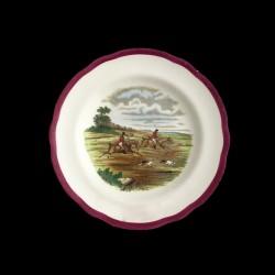 Copeland Herings hunting scene bread plate