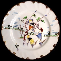 Assiette dessert le Parisien XIXéme Creil & Montereau
