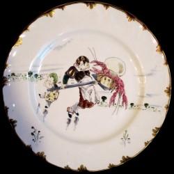 Assiette table le Parisien XIXéme Creil & Montereau