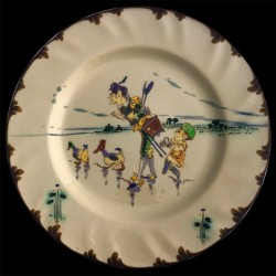 "Dinner plate ""Le Parisien"" 19th century Creil"