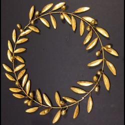 Couronne d'olivier dorée