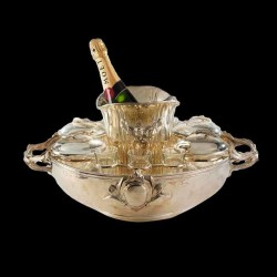 Christofle service caviar avec rafraichissoir seau champagne Xxe