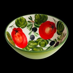 Majolica Olives & Tomatoes Salad Bowl
