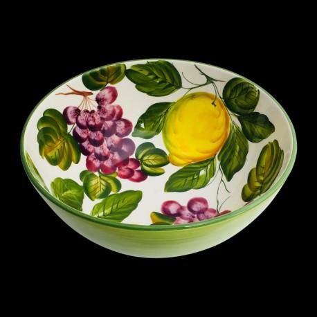 Saladier faïence Citrons et Raisins taille 3