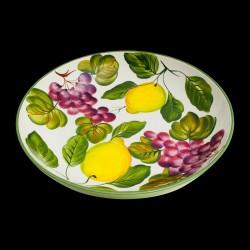 Majolica Lemons & Grapes Salad bowl size 4