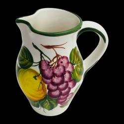 Pichet faïence Citrons et Raisins