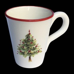 Majolica Christmas tree mug