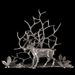 Card / Napkin holder Pewter Deer
