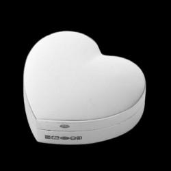 Boite à pilule forme coeur 1,2 x 4,2 cm x 3,8 cm argent