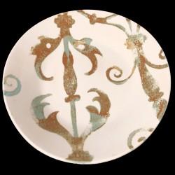 Assiette de table faïence motif Fenêtre