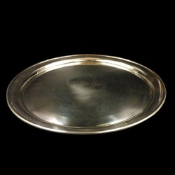 "Silverplated round tray ""Royal Hotel"""