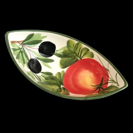 Ravier creux faïence Olives et Tomates
