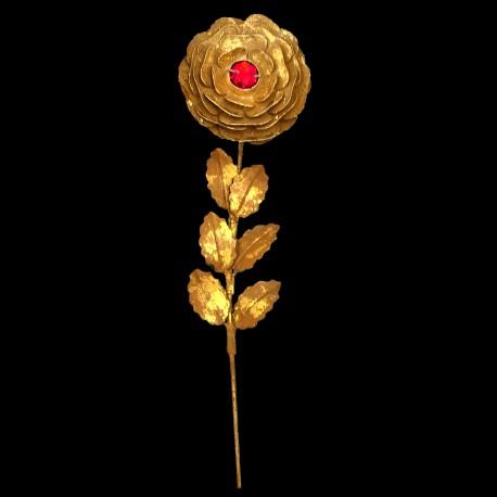Rose d'or coeur de Rubis (brin)