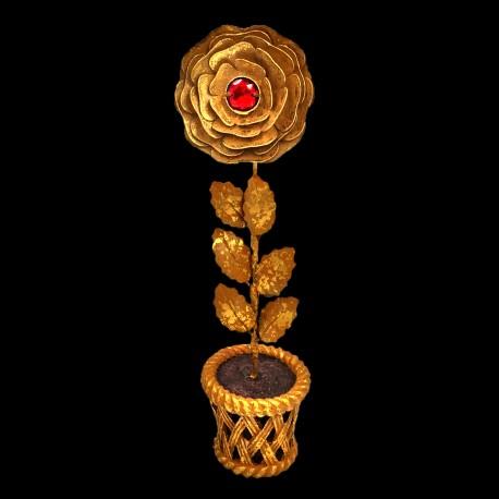 Rose d'or cœur de Rubis (pot)