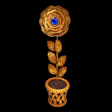 Rose d'or cœur de Saphir (pot)