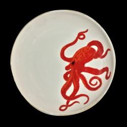 Majolica Ray large round dish