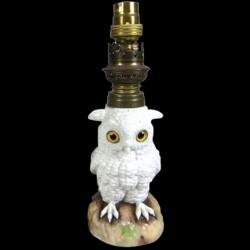 Lampe hibou de porcelaine XIX siècle