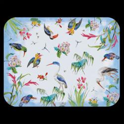 """Grand plateau """"Les Oiseaux"""" en bois mélaminé"""