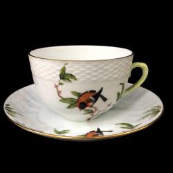 Grande Tasse à déjeuner et sous tasse Rothschild Herend